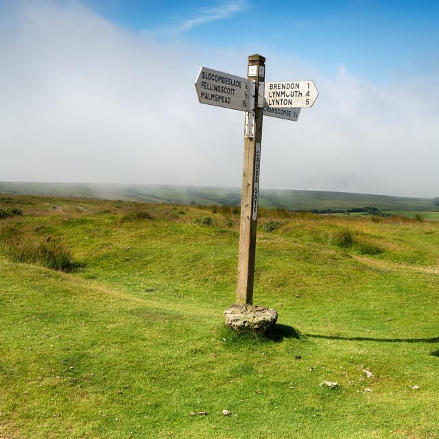 """""""Cross Gate on Exmoor"""" stock image"""