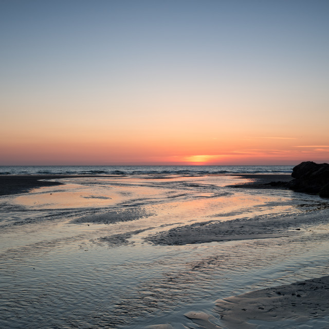 """""""Perranporth at Sunset"""" stock image"""