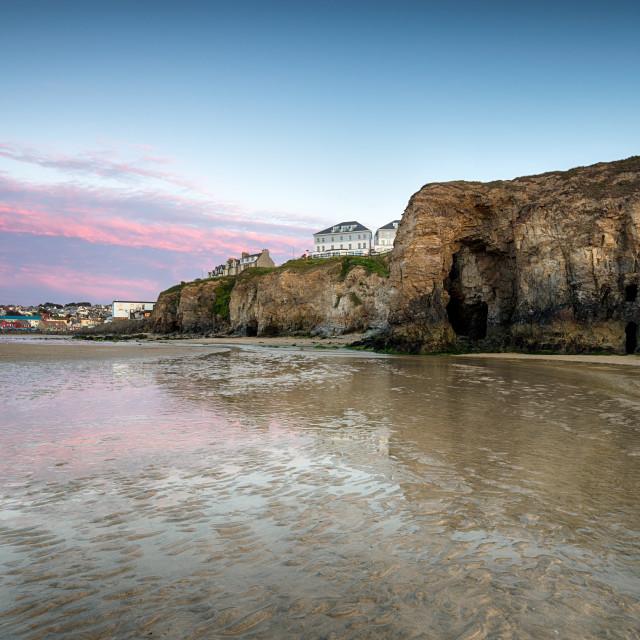 """Perranporth in Cornwall"" stock image"