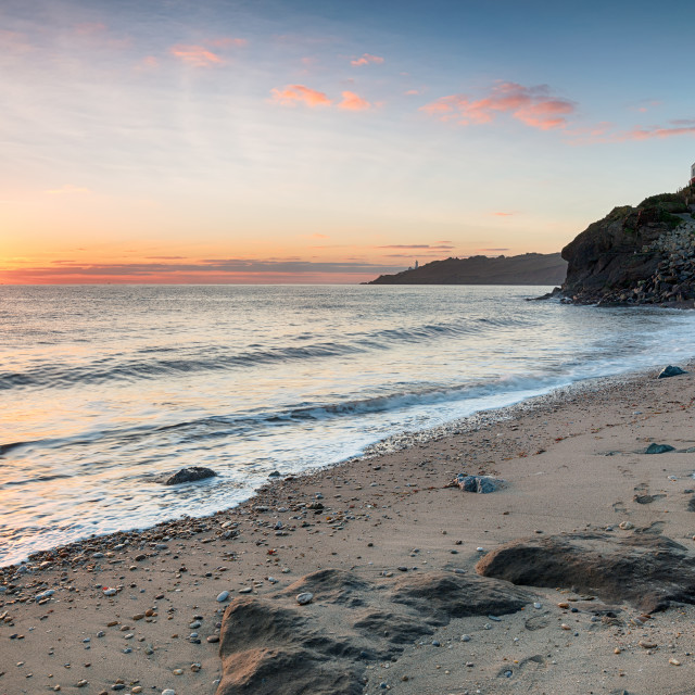 """""""The Beach at Hallsands"""" stock image"""