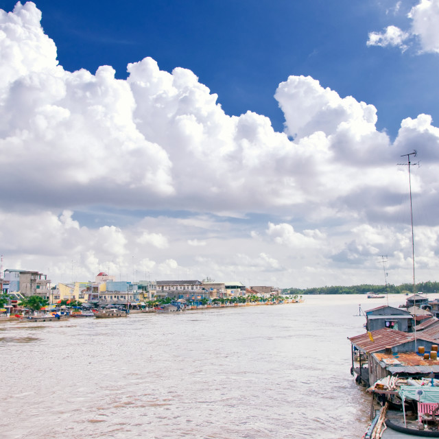 """Mekong Delta, Cantho, Vietnam"" stock image"