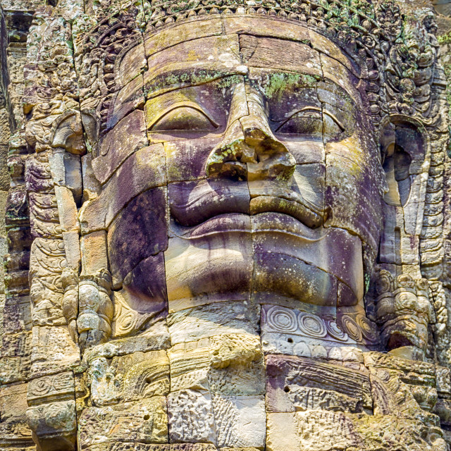 """Bayon temple stone faces"" stock image"