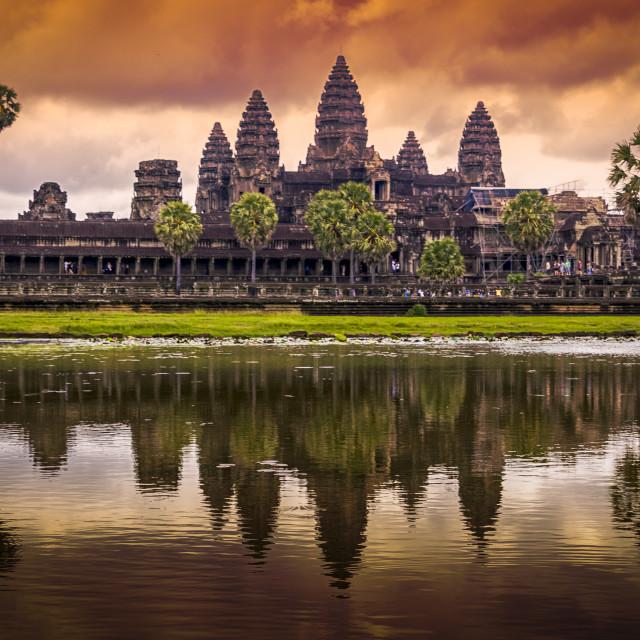 """""""Angkor Wat reflections, Siem Reap, Cambodia"""" stock image"""