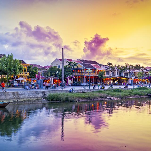 """""""Hoi An town, close to Dang An, Vietnam"""" stock image"""
