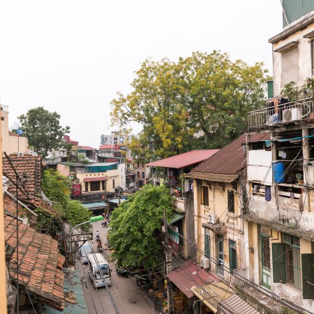 """""""Hanoi street"""" stock image"""
