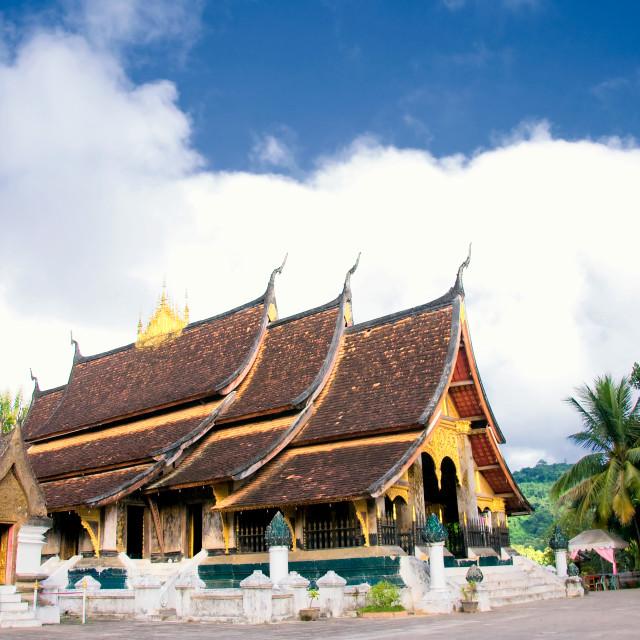 """Wat Xieng Thong, Luang Phrabang, Laos"" stock image"