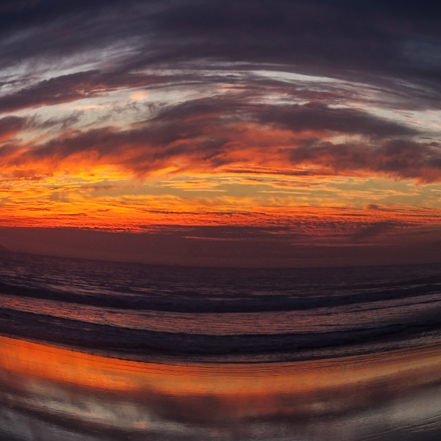 """""""Pacific Sunset"""" stock image"""