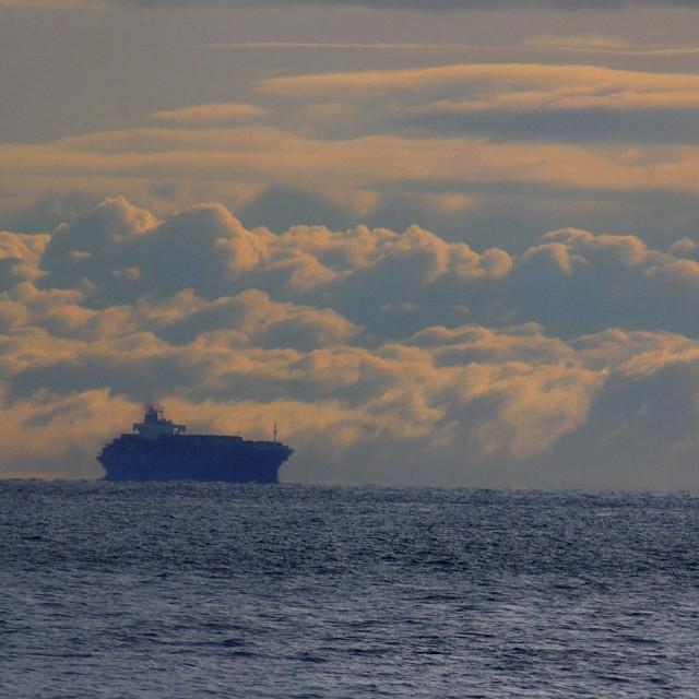 """SHIP ON PUGET SOUND"" stock image"