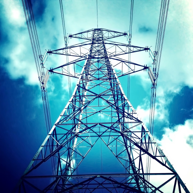 """Electricity Pylon"" stock image"