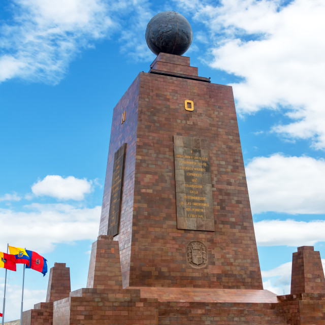 """""""Monument to the Equator"""" stock image"""