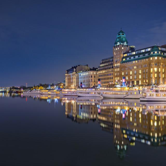 """""""Nybroviken, Stockholm."""" stock image"""