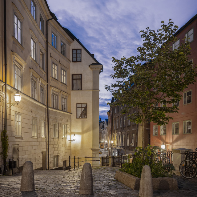"""Old Town of Stockholm."" stock image"