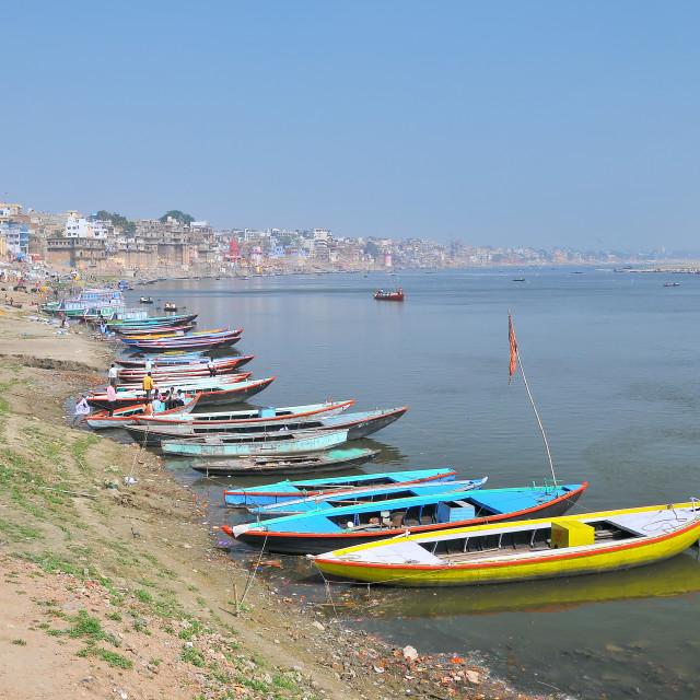"""Ganga River, Varanasi, India"" stock image"