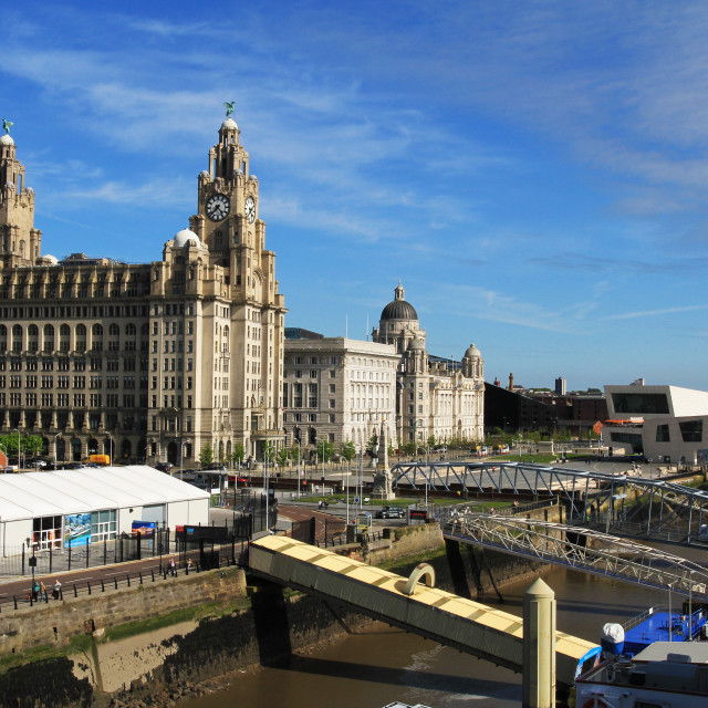 """Liverpool Pier Head"" stock image"