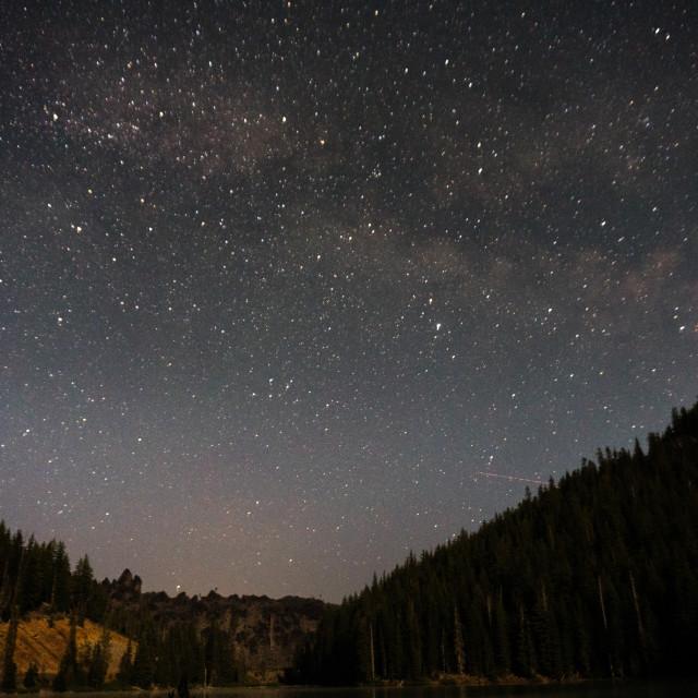 """""""Stars over Devil's Lake"""" stock image"""