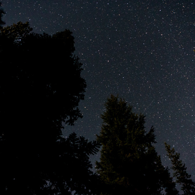 """Stars over Devil's Lake Oregon"" stock image"
