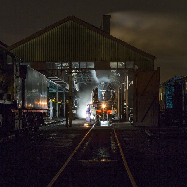 """Tornado on shed at Didcot"" stock image"