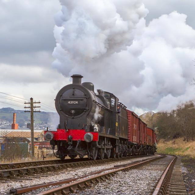 """Vintage Freight Train"" stock image"