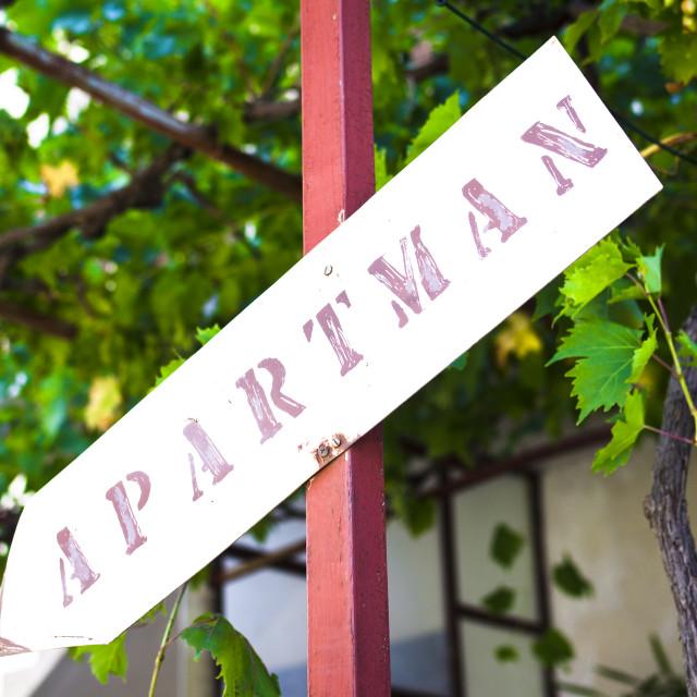 """Apartman mark free rooms"" stock image"