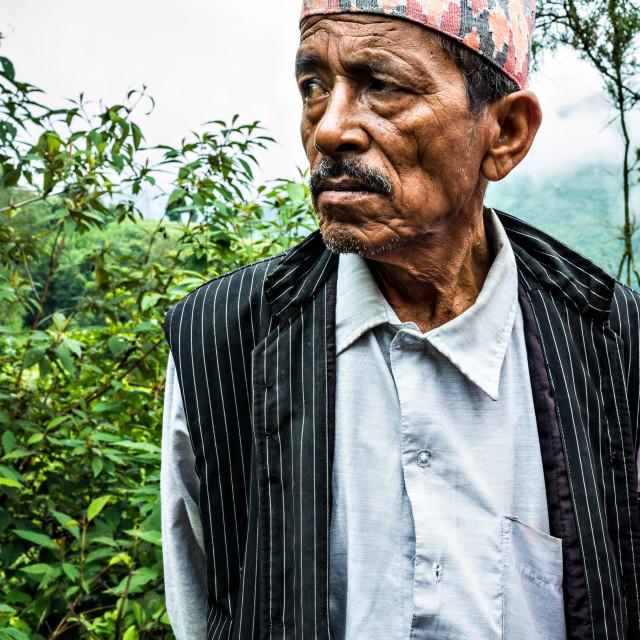 """Nepalese Man"" stock image"