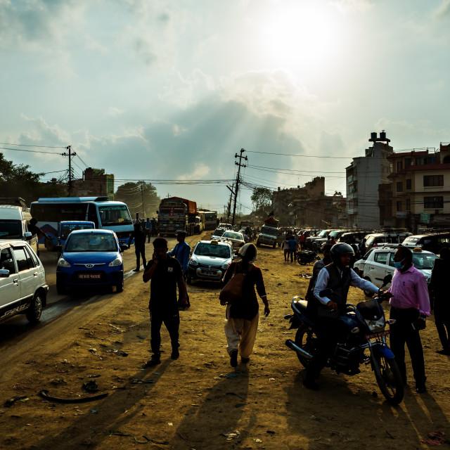 """Chaotic Kathmandu"" stock image"
