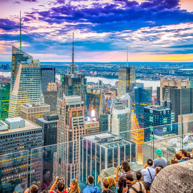 """New York from top of the Rock"" stock image"