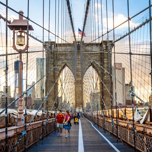 """Brooklyn gate, New York"" stock image"