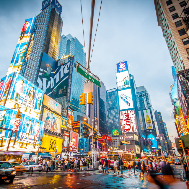 """""""7 avenue, New York"""" stock image"""