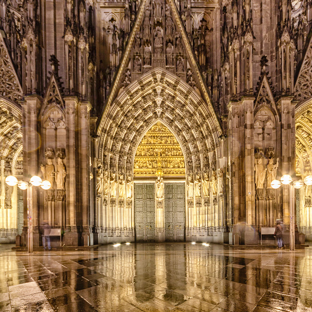 """Koln Cathedral door"" stock image"