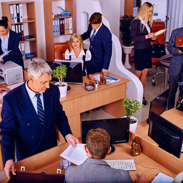 """""""Group business people in office."""" stock image"""