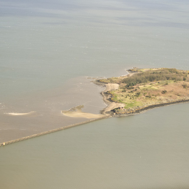 """Cramond Island"" stock image"