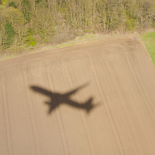 """""""Shadow of the Plane"""" stock image"""