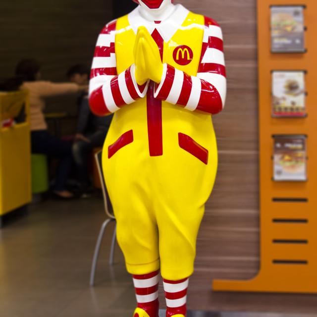 """Ronald McDonald statue in Thailand"" stock image"
