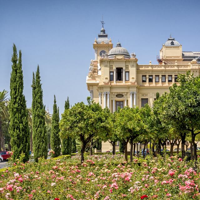 """""""Ayuntamiento de Málaga"""" stock image"""