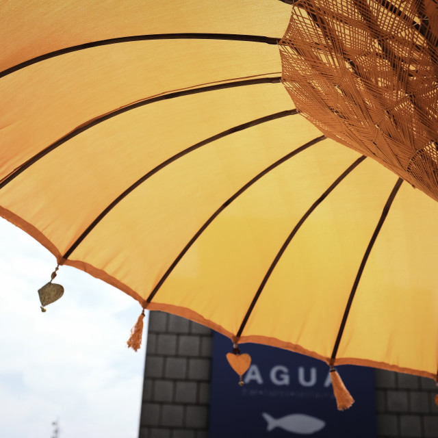 """Orange Parasol"" stock image"