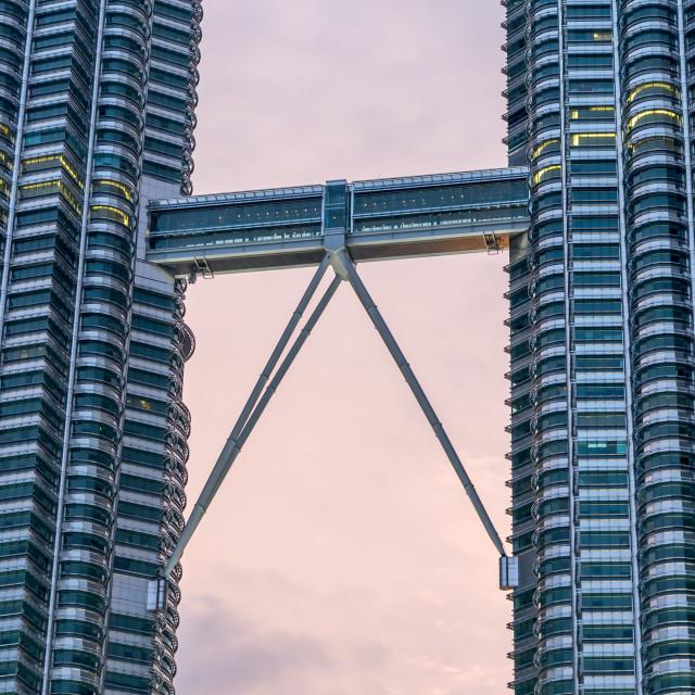 """The Bridge Between Towers"" stock image"
