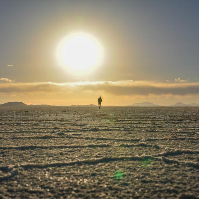 """Uyuni Sunset"" stock image"