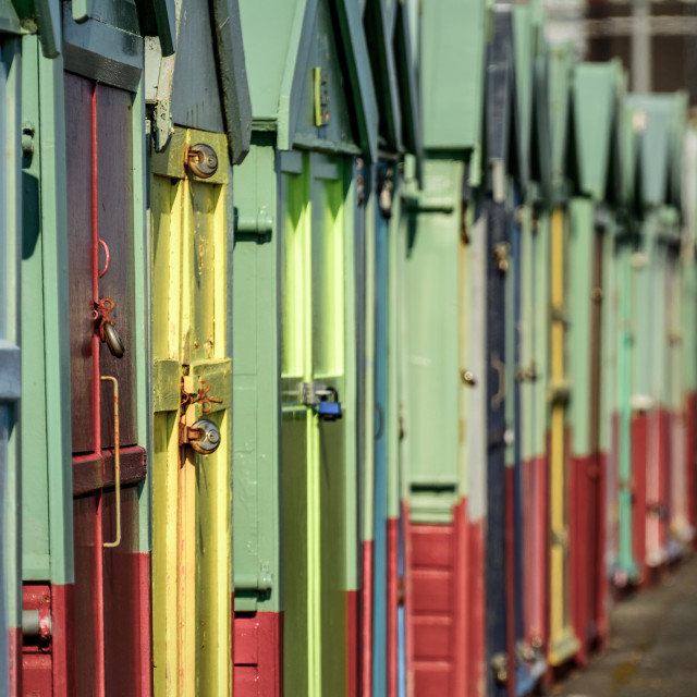 """Brighton Beach Huts"" stock image"