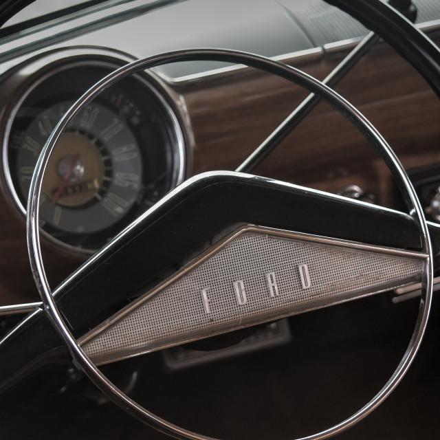 """Ford Steering Wheel"" stock image"