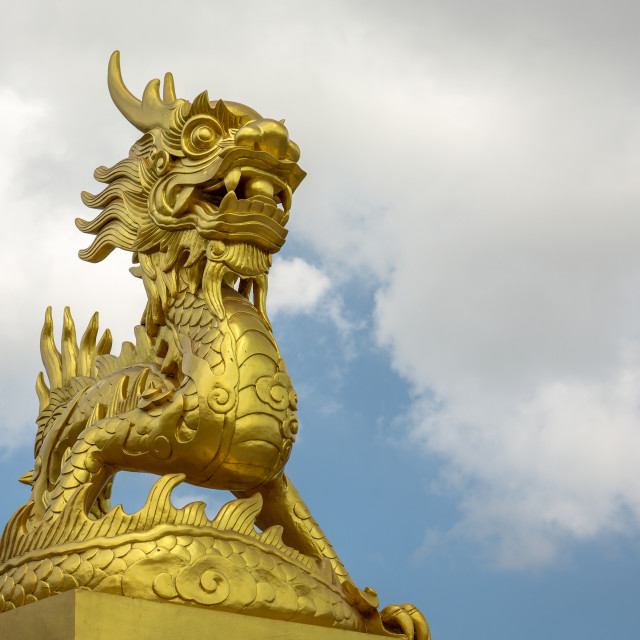 """Dragon Statue Imperial City Hue Vietnam"" stock image"