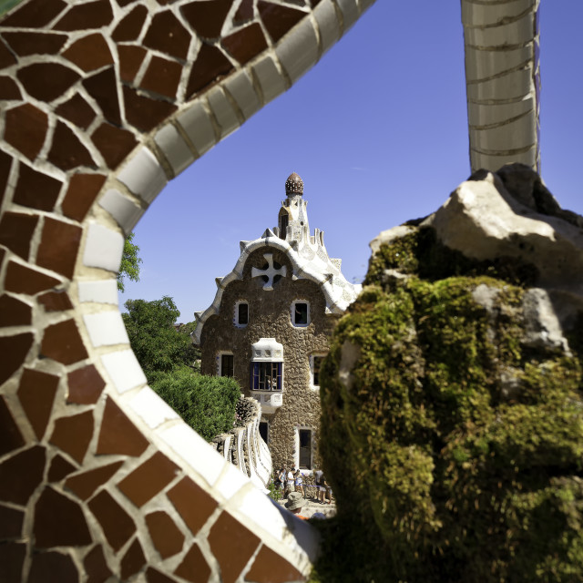 """""""Park Guell"""" stock image"""