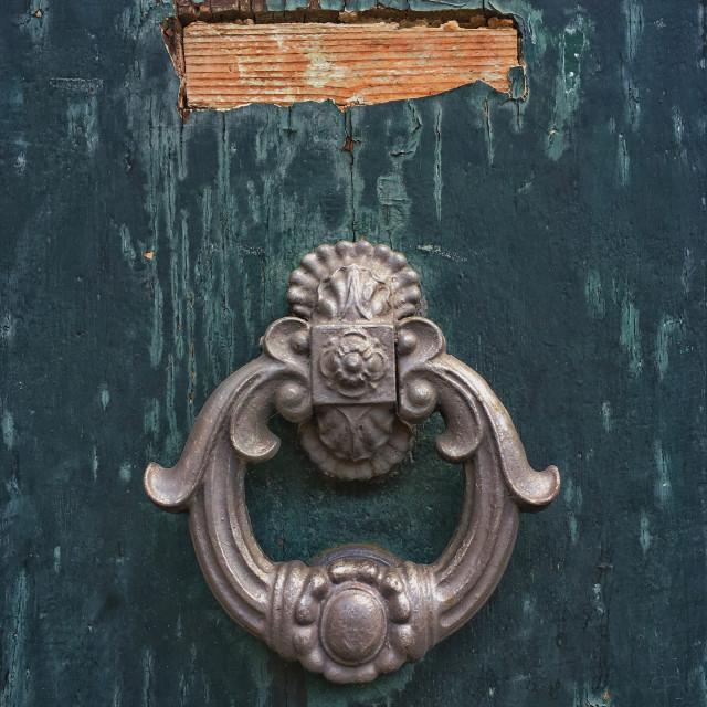 """Knock at my door"" stock image"