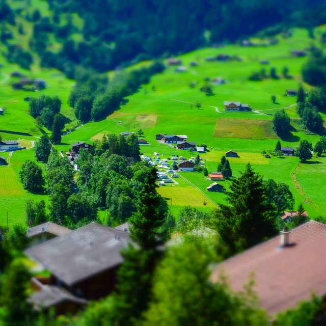 """Tiny Countryside"" stock image"