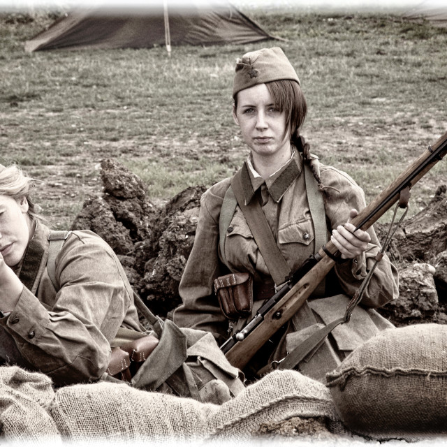 """""""Girls of the Russian Front"""" stock image"""