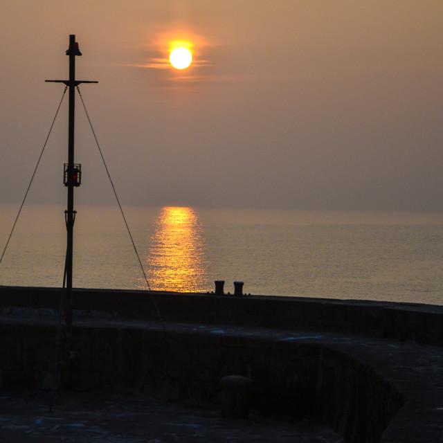 """Dawn over sail"" stock image"