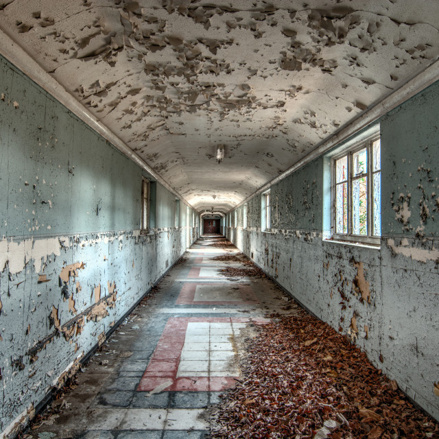 """Asylum corridor"" stock image"