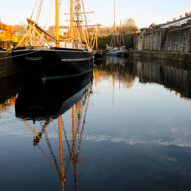 """The Bessie Ellen in Harbour Charlestown"" stock image"