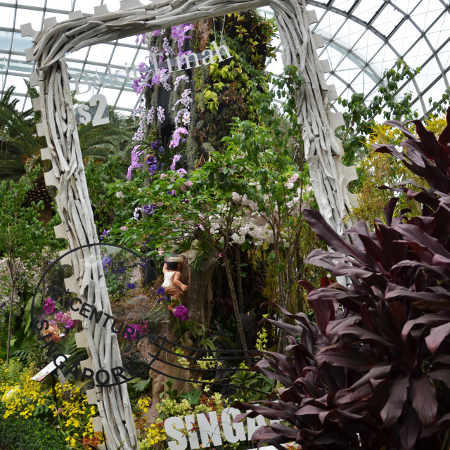 """""""Flower Dome at Gardens by the Bay in Singapore"""" stock image"""