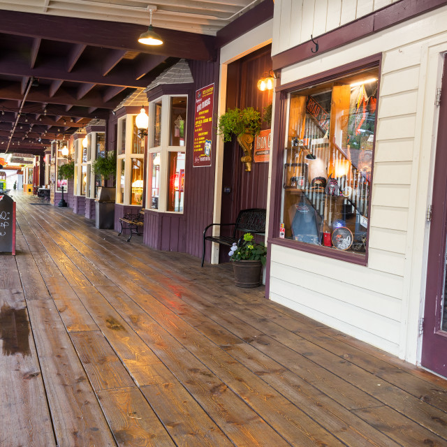 """Boardwalk in Keystone, South Dakota"" stock image"