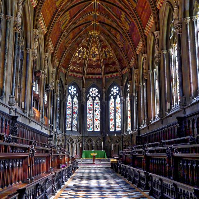 """St John's College Chapel"" stock image"